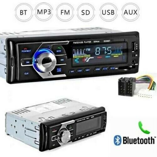 autoradio: STEREO AUTO BLUETOOTH AUTORADIO VIVAVOCE RADIO FM MP3 USB AUX SD CARD 180W