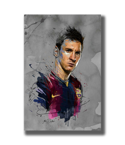 """Lionel Messi Barcelona Football Soccer Super Star Fabric Poster Art TY673 24x36/"""""""