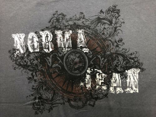 "Norma Jean /""American Metalcore/"" T-shirt Official Adult Mens Gray New S,M"