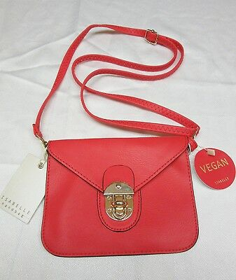 Isabelle Handbag Crossbody Small Purse Pouch Vegan Leather Hot Red New With Tag Ebay