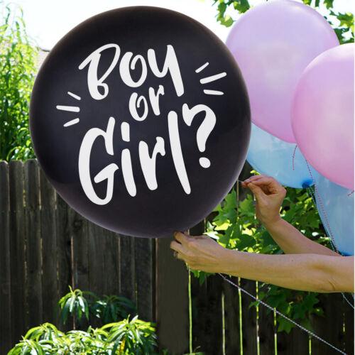 "Gender Reveal 36/"" Balloon Blue Baby Boy or Girl Pink Confetti Balloon Kit Decor"