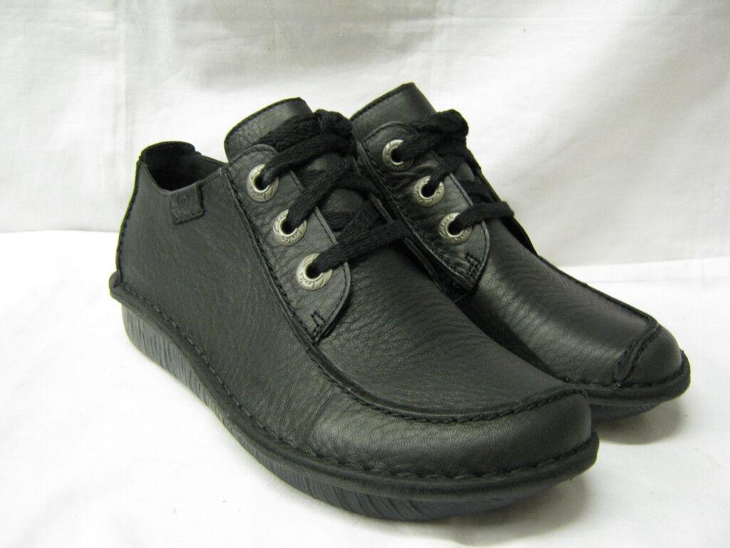 Gran descuento Descuento por tiempo limitado Clarks Funny Dream Ladies Black Flat Lace Up Shoes