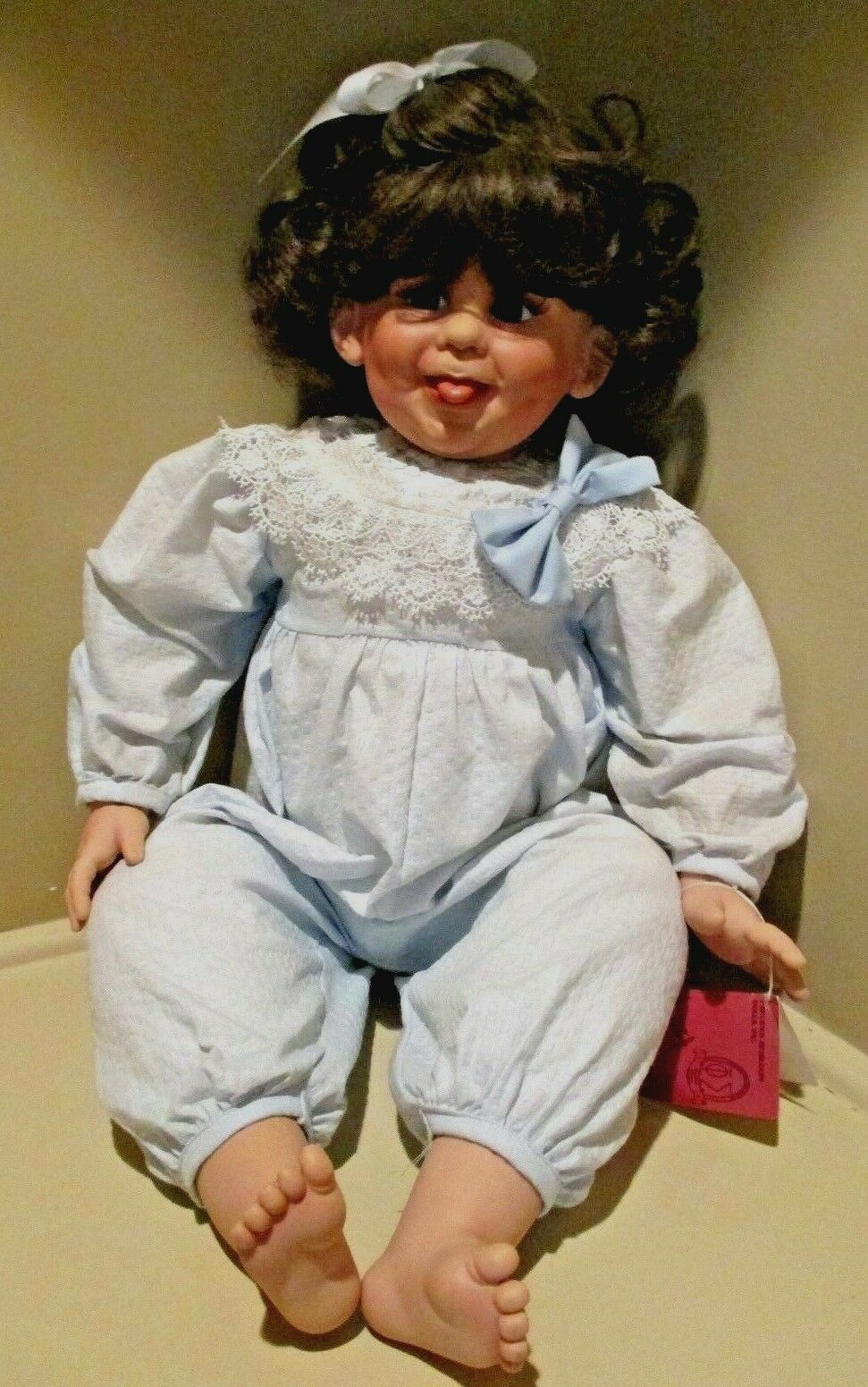 Fay Zah Spanos Girl Doll Baby 26  Dated 1993 Bubbles Limited Retirosso  ES057