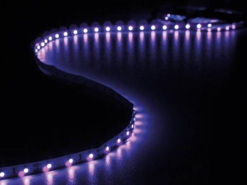 FLEXIBLE RUBAN 300 LED UV LUMIERE NOIRE AUTOCOLLANTE 12V 5m ALIMENTATION