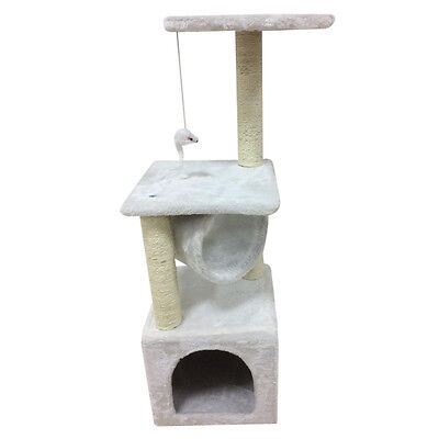 Cat Kitten Tree Scratching Post Toy Activity Centre Pet Climbing HT