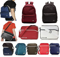LACOSTE BAGS - SHOULDER MESSENGER TRAVEL CAMERA PASSPORT- BAGS BACKPACK-100% NEW