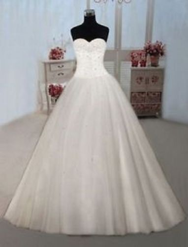 New Stock Sweetheart Wedding Dresses Prom/Bridal Gown Stock Size:6-8-10-12-14-16