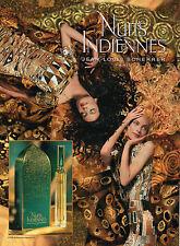Publicité Advertising 1996  Parfum Nuits Indiennes de Jean Louis SCHERRER
