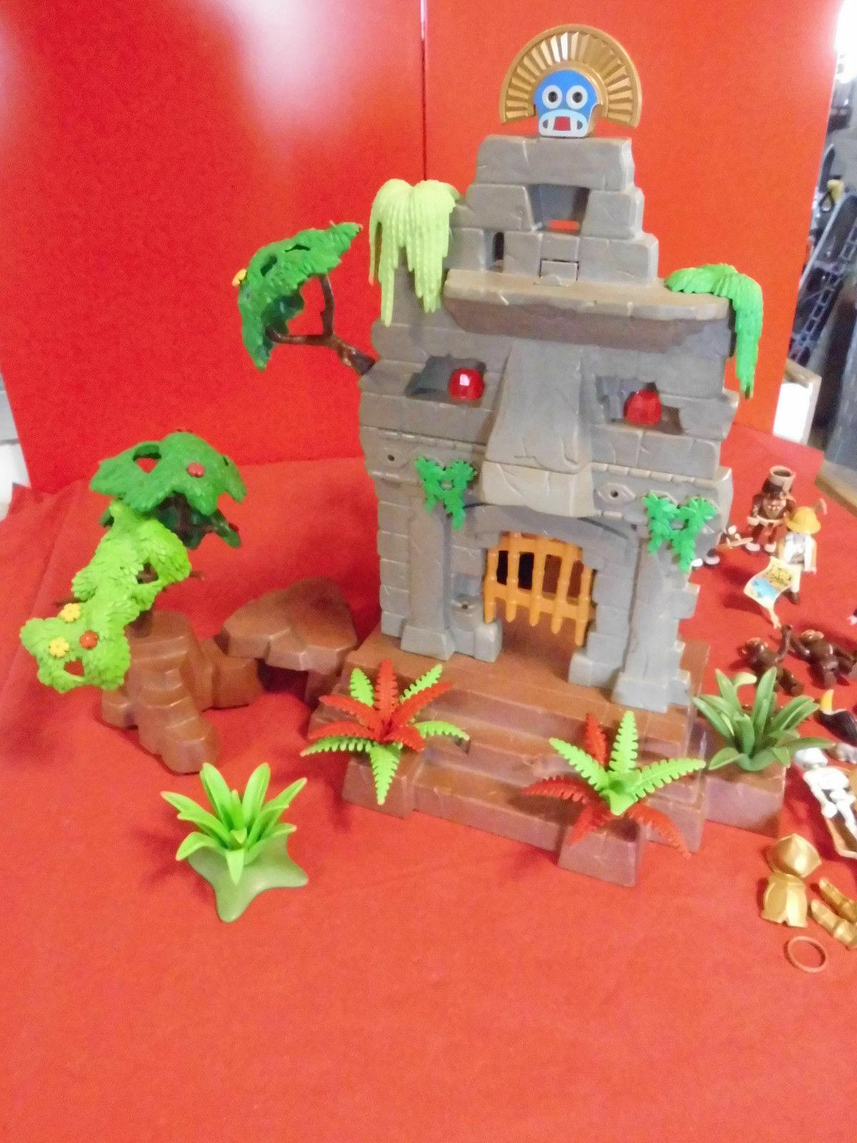 Playmobil 3015 Inka-Tempel Dschungelruine viel Zubehör gebraucht