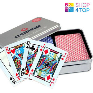 COPAG-FOUR-SEASONS-PLASTIC-POKER-PLAYING-CARDS-WINTER-LIMITED-EDITION-2-DECKS