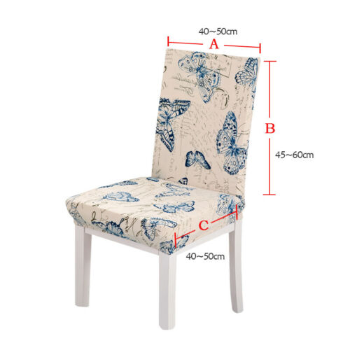 Stretch Chair Seat Cover Elastic Washable Removable Decor Dining Room Slipcovers