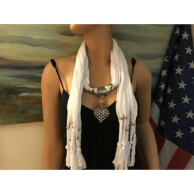 Fashion Jewelry Scarf  W Decoration Rhinestone Heart  Pendant #3
