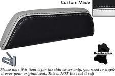 Blanco Y Negro Custom encaja Cagiva Mito 125. 90-94. respaldo cojín de cuero Funda De Asiento