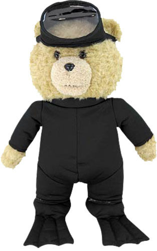 TED 2 - Ted 24  Life-Größe Plush Scuba Outfit with Sound by Commonwealth  NEW