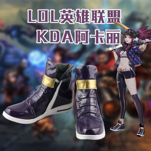 LOL KDA Akali Cosplay Shoes League of Legends Purple Boots Unisex Free Shipping