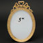Antique-French-Napoleon-III-5-Gilt-Bronze-Picture-Frame-Oval-with-Bow-amp-Ribbon thumbnail 1