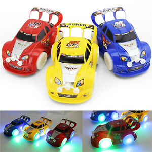 Details About Funny Flashing Music Racing Car Electric Automatic Toy Boy Kid Birthday Gift SE