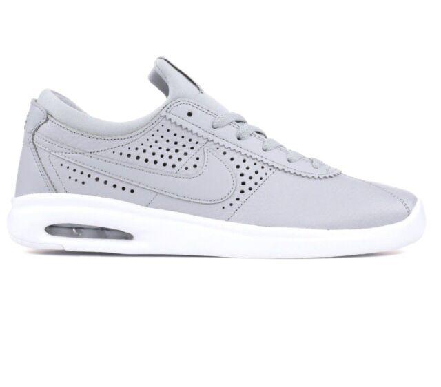 Nike SB Air Max Bruin Vapor Wolf Grey Leather Mens Sz 9.5 Skateboard 923111 006