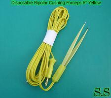 Disposable Bipolar Cushing Forceps 6yellow Electrosurgical Instruments El 027