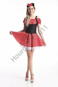 Minnie-Mouse-Adult-Ladies-Fancy-Dress-Cartoon-Mini-Costume-Sexy-Hen-Party-Outfit