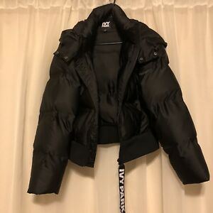 IVY PARK Crop Hooded Puffer Jacket Bomber Beyonce oversized Small-6 $200