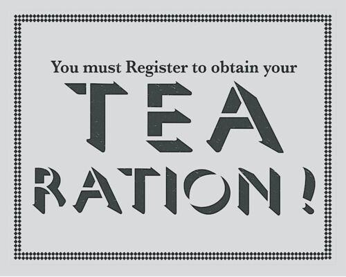 Tea Ration World War VINTAGE ENAMEL METAL TIN SIGN WALL PLAQUE