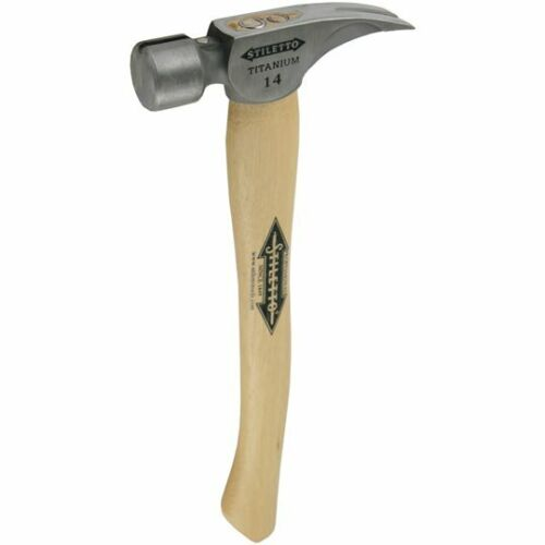 Stiletto griffes Marteau 14-oz Titanium ti14sc-h16 hickoryholz-Manche Titane Marteau