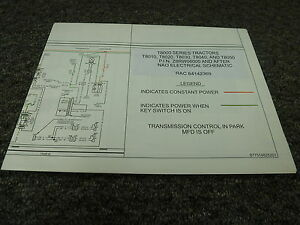 New Holland T8040 T8050 Tractors Electrical Wiring Diagram Manual | on