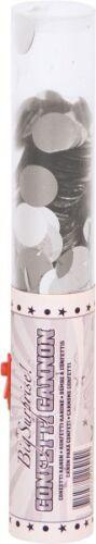 Silver Confetti Confetti Canon Large 25cm x 4cm Compressed Air Canon pk 2