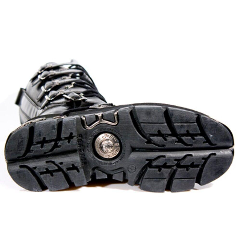 New Rock Style Boots Unisex Punk Gothic Stiefel - Style Rock 272 S1 Schwarz 63fd56