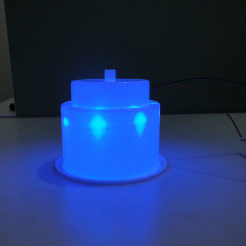 6PCS Blue 8LED/'s Light White Plastic Cup Drink Holder Marine Boat Car Camper