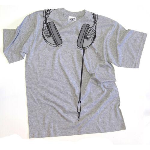 premium quality t-shirt grey//silver DMC Technics DJ Headphones s//m//l//xl//xxl