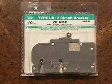 Zinsco Connecticut Electric Ubiz 20 Type Ubi Z 20 Amp Circuit Breaker