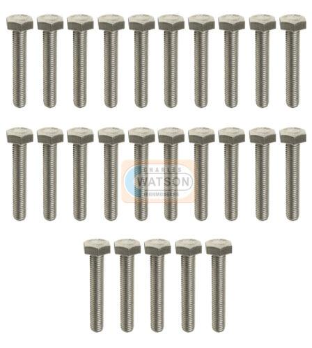 12mm M12X80 Hex Set Screw Threaded Zinc Hexagon Head Bolt Bzp Fixing Pack 25