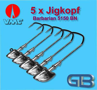 5 x VMC O`Shaugnessy Jig 9131 PS 3//0-10g Jigkopf Jighaken Eriekopf Bleikopf.