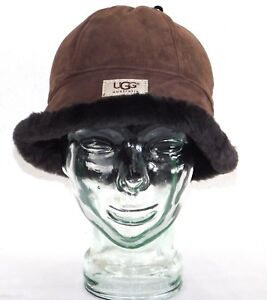 35be9bf63be NEW NWT WOMENS O S UGG CHOCOLATE HAT SUEDE CLOCHE U1850 BUCKET ...