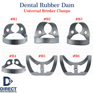 Dental-Rubber-Dam-Clamps-Brinker-Tissue-Retractors-Universal-Bicuspids-Premolar