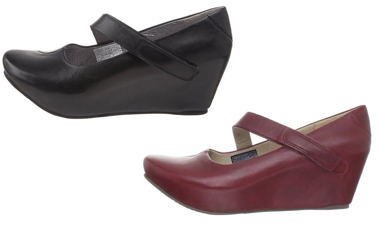 TSUBO ASMIK Sandale Compensées FEMME en CUIR Taille 36 NEUVE Damens Ouverte