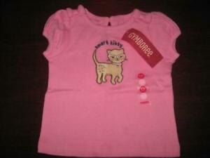 NWT Gymboree Smart Kitties 3 6 9 12 18 24 2T 3T 5T Pink Kitty Cat Shirt Top Girl