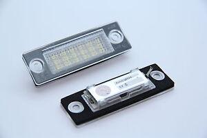 LED-Kennzeichen-leuchte-Nummernschild-beleuchtung-VW-Golf-5-Plus-Bj-2005-2009