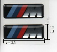 2 ADESIVI LOGHI BADGE STICKERS 3D M power x BMW E46 E87 E53 E60 E90 E92 F30 F25