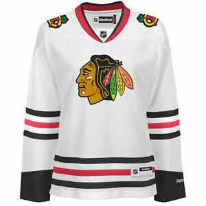 the latest e028b 94b1f Details about Chicago Blackhawks Women's Premier Stitched White Jersey NHL  Reebok