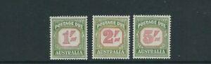 Australia-1953-54-Envio-Cuotas-Scott-J81-J83-1sh-2sh-5sh-VF-MNH
