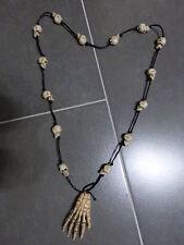 HALLOWEEN Totenkopf Skelett Kette 85 cm NEU Skeletthand für Kostüm Zombie Pirat
