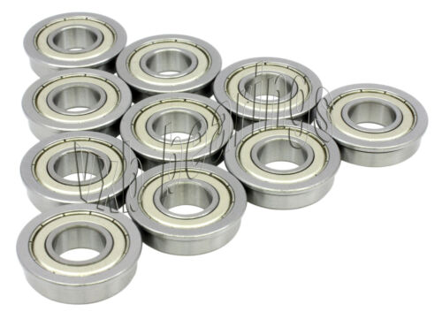 10 Flanged Bearing 4x8x3 Shielded Miniature Ball Bearings 753