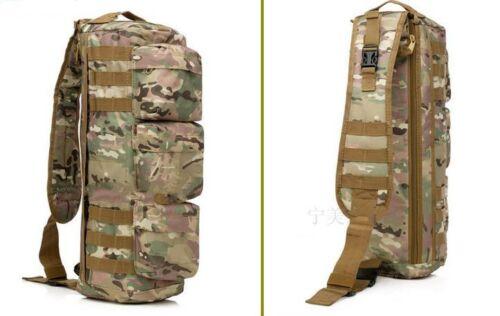 Tactical MOLLE Assault Go Bag Shoulder Sling Military Gym Hiking Camp backpack