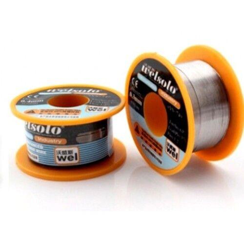 Tin Welsolo Diameter 0.4 mm 40 GR SPOOL Coil Wire Welding Solder