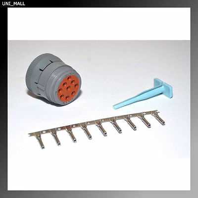 Deutsch HD10 4-Pin Female Connector /& Tool Kit USA 4 /& 14-16AWG Solid Pins