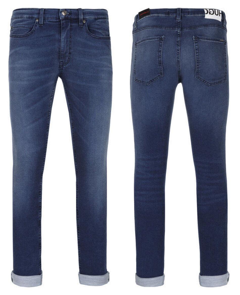 New Mens Hugo Boss Hugo 131 Super Skinny Fit Stretch Cotton bluee Jeans 33 x 32