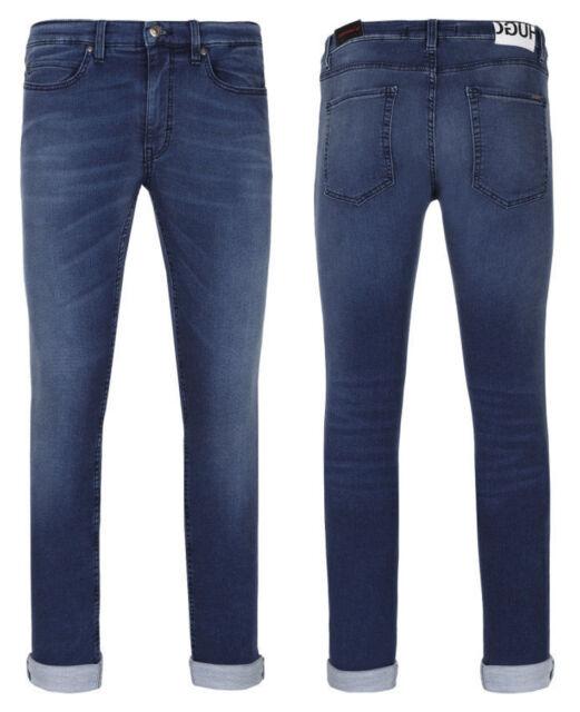 2a4111de2 New Mens Hugo Boss Hugo 131 Super Skinny Fit Stretch Cotton Blue Jeans 33 x  32